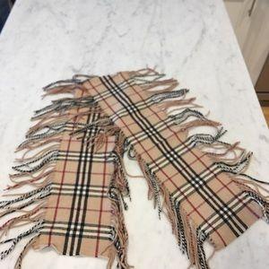 Burberry fringe scarf